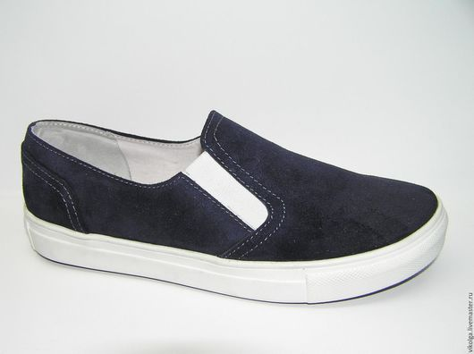 Обувь ручной работы. Ярмарка Мастеров - ручная работа. Купить Кожаные слипоны. Handmade. Обувь на заказ, слипоны