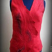 """Одежда ручной работы. Ярмарка Мастеров - ручная работа Жилет """" Сердце пламени."""". Handmade."""