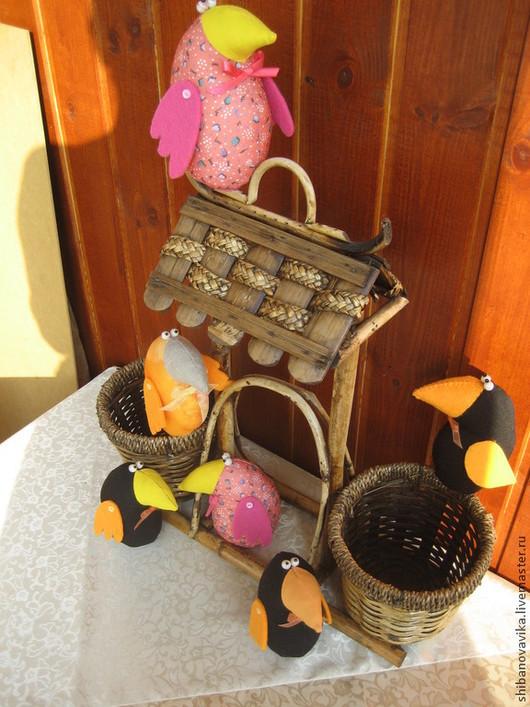 Игрушки животные, ручной работы. Вороны-москвички. Автор Шибанова Виктория. Дизайн-студия авторских игрушек