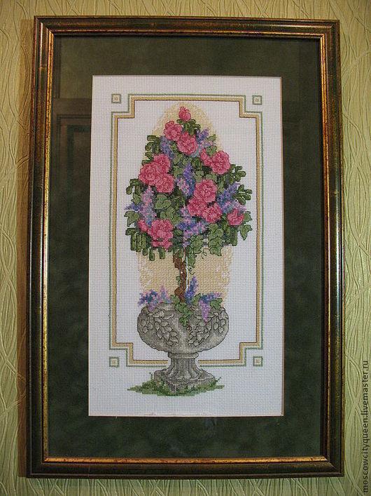 Картины цветов ручной работы. Ярмарка Мастеров - ручная работа. Купить картина вышивка крестом Азалия. Handmade. Картина