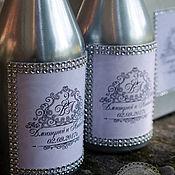 Свадебное оформление бутылок