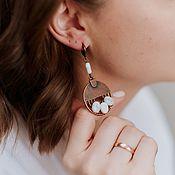Украшения handmade. Livemaster - original item Howlite earrings