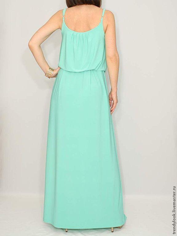 0a52bc9c1b42f Анна. Интернет · Платья ручной работы. Заказать Размер 44 мятное платье  летний сарафан на бретельках.