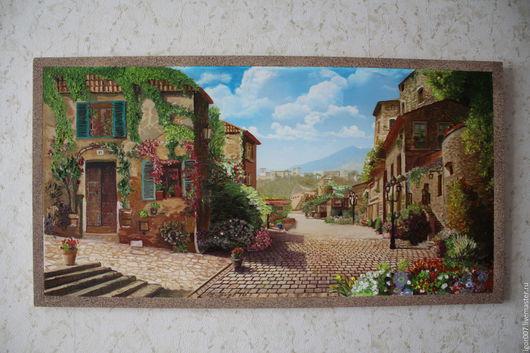 Пейзаж ручной работы. Ярмарка Мастеров - ручная работа. Купить Средиземноморье. Handmade. Средиземноморье, пейзаж, дерево сосна