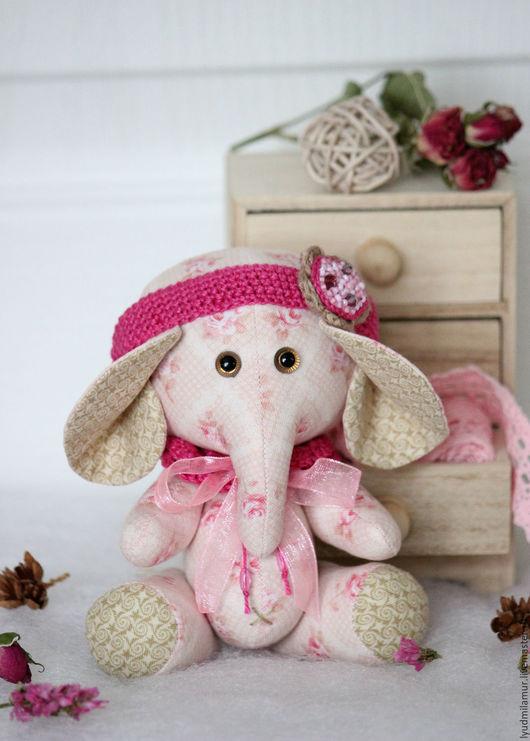 """Игрушки животные, ручной работы. Ярмарка Мастеров - ручная работа. Купить Слоник """"Рози"""". Handmade. Розовый, детская, интерьерная игрушка"""