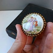Винтаж handmade. Livemaster - original item Vintage brooch . Limoges .  France. Handmade.