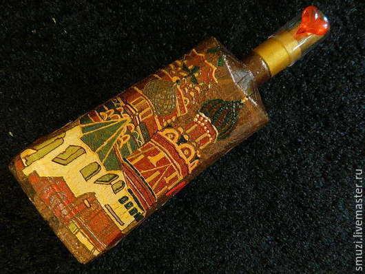 Сувениры ручной работы. Ярмарка Мастеров - ручная работа. Купить КУПОЛА РОССИИ, КРЕМЛЬ  бутылка большая (пустая). Handmade. Разноцветный