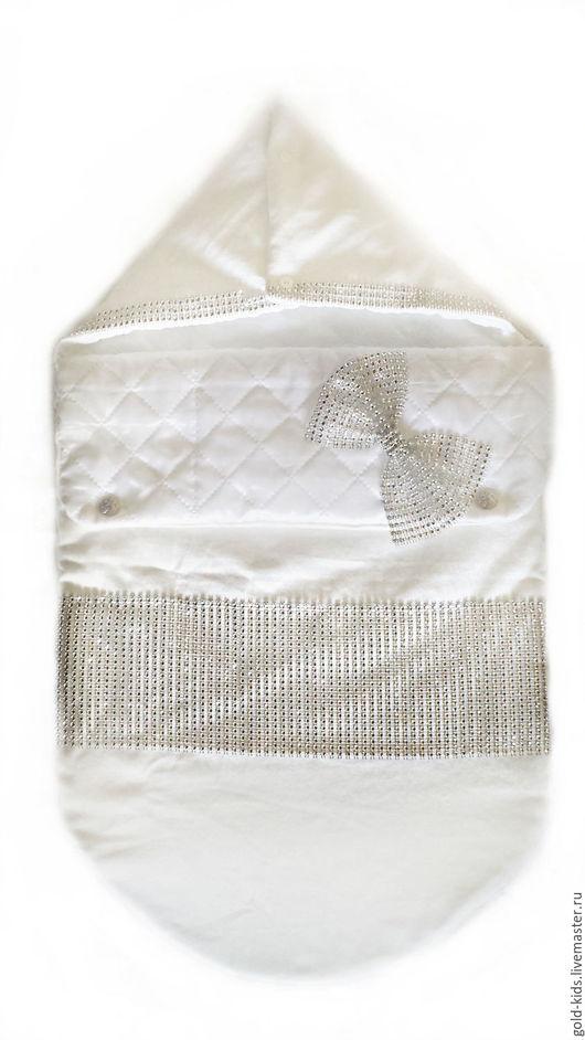 """Для новорожденных, ручной работы. Ярмарка Мастеров - ручная работа. Купить Конверт на выписку """"изысканность"""". Handmade. Белый, на выписку"""