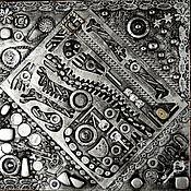 Картины ручной работы. Ярмарка Мастеров - ручная работа Авторский коллаж в стиkе mixed media. Handmade.