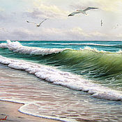"""Картины и панно ручной работы. Ярмарка Мастеров - ручная работа """"Берег моря"""". Handmade."""