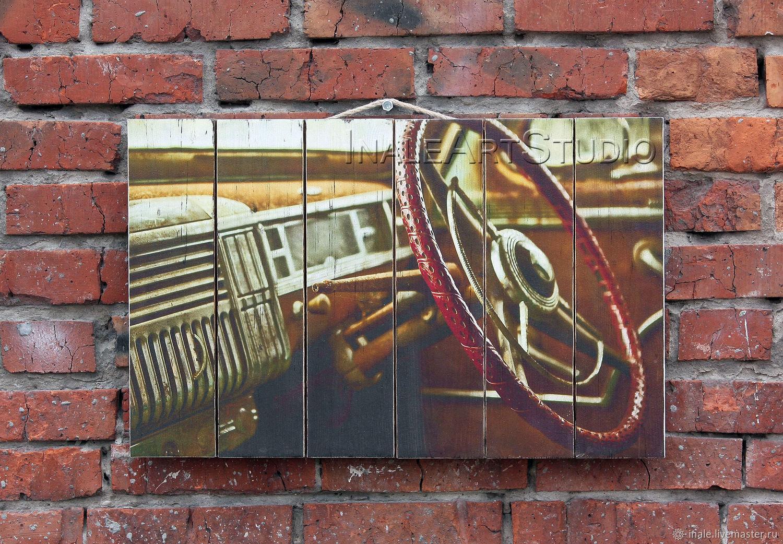 Photo Pictures handmade. Livemaster - handmade. Buy La pintura en los tablones de 'el Viejo auto'.