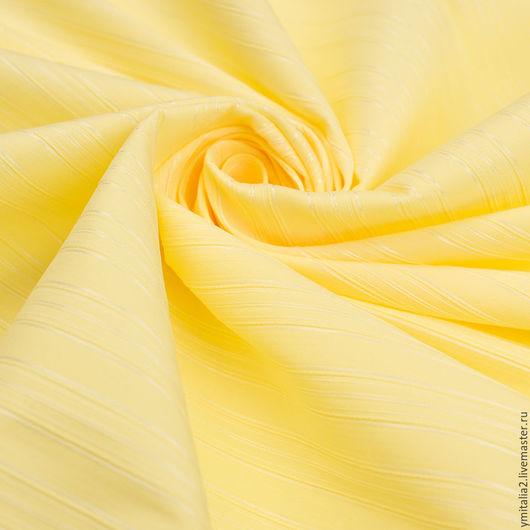 Шитье ручной работы. Ярмарка Мастеров - ручная работа. Купить Хлопок блузочно-рубашечный лимонно-желтый ESCADA. Handmade.