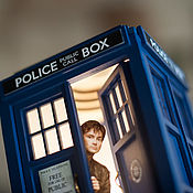 Для дома и интерьера handmade. Livemaster - original item TARDIS-night light with an opening door. Lamp. Handmade.