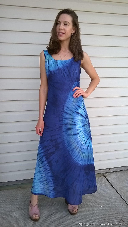 Платье льняное - батик  : Море, Платья, Смоленск,  Фото №1