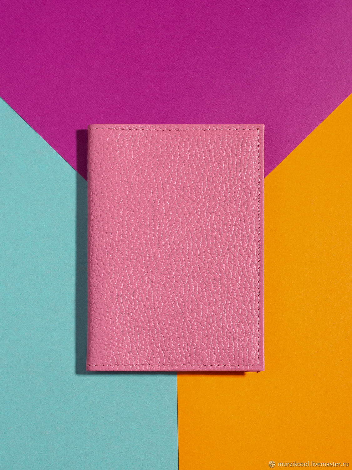 Passport cover 'Classic' Bright pink, Cover, Moscow,  Фото №1