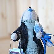 Куклы и игрушки ручной работы. Ярмарка Мастеров - ручная работа Зайка в синих сапогах. Handmade.