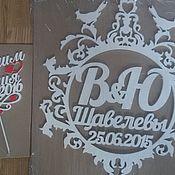 Свадебный салон ручной работы. Ярмарка Мастеров - ручная работа Набор свадебный,топпер и монограмма. Handmade.