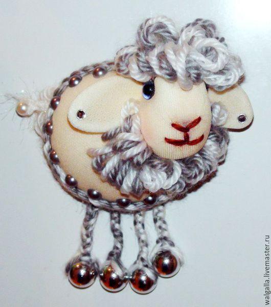 Персональные подарки ручной работы. Ярмарка Мастеров - ручная работа. Купить Много овечек, хороших и разных. магнит на холодильник. Handmade.