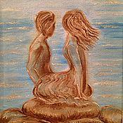 Картины и панно handmade. Livemaster - original item The picture Above the waves. Handmade.