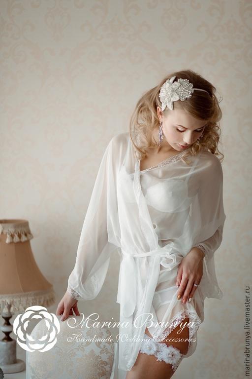 Свадебные украшения ручной работы. Ярмарка Мастеров - ручная работа. Купить Ободок невесты. Handmade. Кремовый, свадебный обруч, для прически