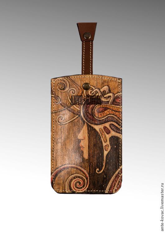 """Для телефонов ручной работы. Ярмарка Мастеров - ручная работа. Купить Чехол для смартфона """"Виолина"""". Handmade. Рисунок, чехол для мобильного"""
