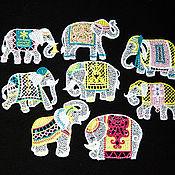 Подарки к праздникам handmade. Livemaster - original item Elephants on the tree set.. Handmade.