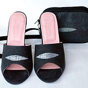 Обувь ручной работы. Ярмарка Мастеров - ручная работа Комплект сабо из натурального ската. Handmade.