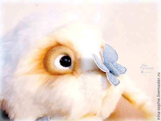 Мишки Тедди ручной работы. Ярмарка Мастеров - ручная работа. Купить Заяц с голубым мотыльком. Авторская игрушка ручной арботы. Тедди.. Handmade.