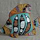 Подарочные наборы ручной работы. Ярмарка Мастеров - ручная работа. Купить Рыбка.Скульптурка керамическая. Роспись по керамике.. Handmade. Бирюзовый