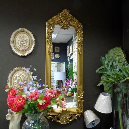 Винтажные предметы интерьера. Ярмарка Мастеров - ручная работа. Купить Зеркало настенное  винтажный стиль. Handmade. Белый, зеркало