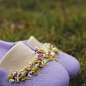 """Тапочки ручной работы. Ярмарка Мастеров - ручная работа """"Дождливое утро Прованса"""" валяные тапочки. Handmade."""