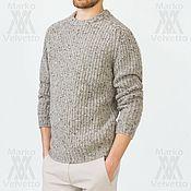 Одежда ручной работы. Ярмарка Мастеров - ручная работа Свитер мужской  Grey quartz (свитер теплый, свитер шерстяной). Handmade.