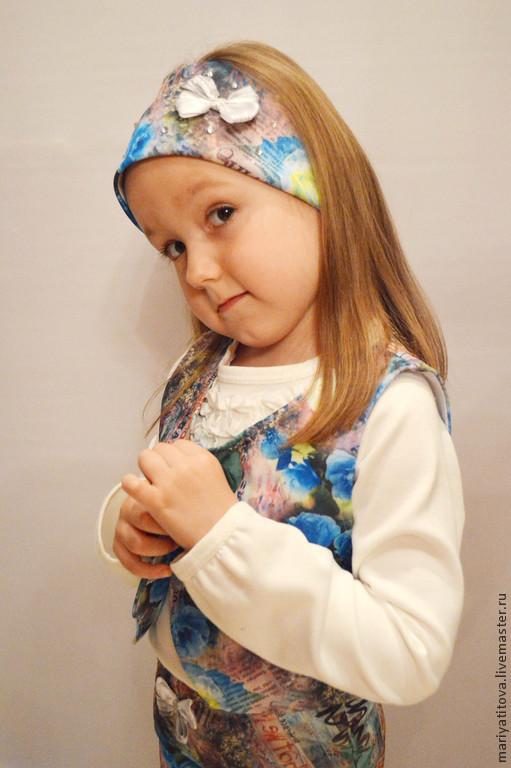 Шапки и шарфы ручной работы. Ярмарка Мастеров - ручная работа. Купить Повязка для девочки. Handmade. Разноцветный, подарок, повязка от ветра