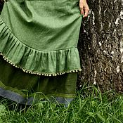"""Одежда ручной работы. Ярмарка Мастеров - ручная работа Льняная нижняя юбка """"Полянка"""". Handmade."""