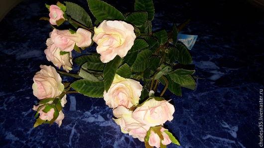 Материалы для флористики ручной работы. Ярмарка Мастеров - ручная работа. Купить Букет шикарных розочек. Handmade. Бледно-розовый, роза