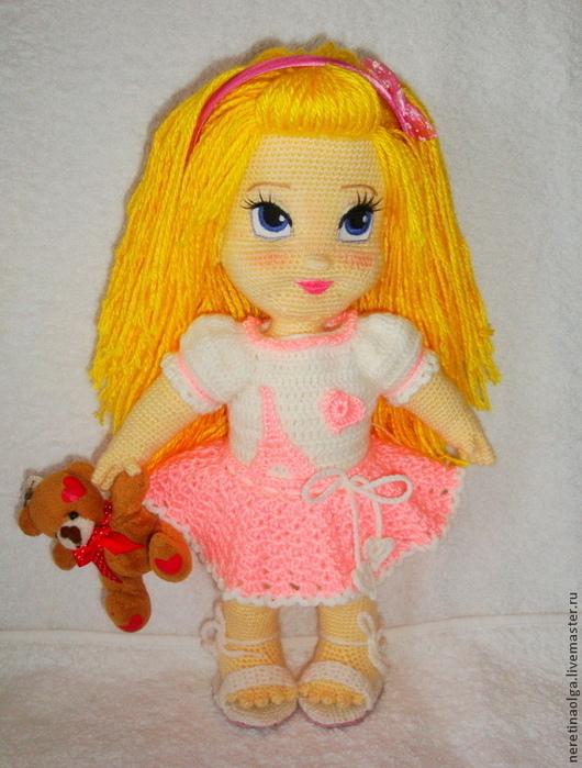 Кукла крючком полли мк