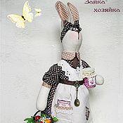 Куклы и игрушки ручной работы. Ярмарка Мастеров - ручная работа Зайка-хозяйка. Handmade.