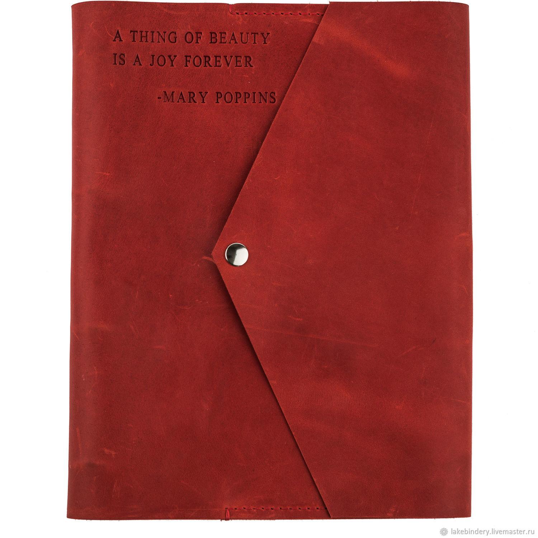 Большой кожаный блокнот А4 на магнитной кнопке из натуральной кожи, Блокноты, Москва,  Фото №1