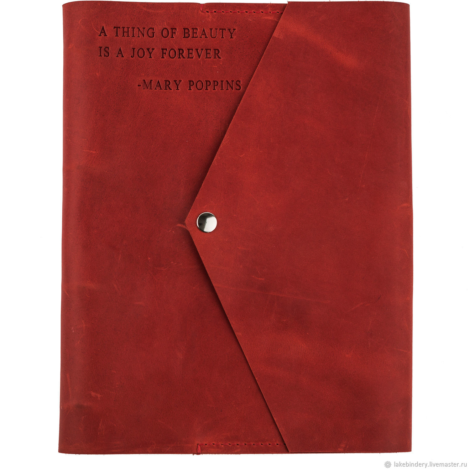 Large A4 leather notebook with magnetic button made of genuine leather, Notebooks, Moscow,  Фото №1