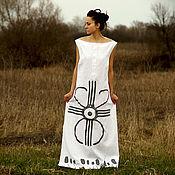 Одежда handmade. Livemaster - original item Long Linen Maxi Dress «Selena». Handmade.