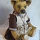 """Мишки Тедди ручной работы. Медведь Тедди. """"Луша"""".. Алина Карева (karryteddy). Ярмарка Мастеров. Медведица, подарок женщине"""