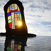 """Для дома и интерьера ручной работы. Ярмарка Мастеров - ручная работа композиция """"дом у воды"""". Handmade."""