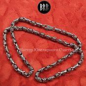 "Русский стиль handmade. Livemaster - original item Сhain ""Seya"" sterling silver 925. Handmade."