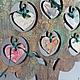 Статуэтки ручной работы. Заказать Подставка для украшений Настроение. Елена Рогачева (sirenya). Ярмарка Мастеров. Малиновый, яблоня, краски акриловые