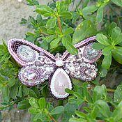 "Украшения ручной работы. Ярмарка Мастеров - ручная работа Брошь ""lavender butterfly"". Handmade."