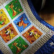 """Для дома и интерьера ручной работы. Ярмарка Мастеров - ручная работа Детское одеяло """"Веселые зверята"""". Handmade."""
