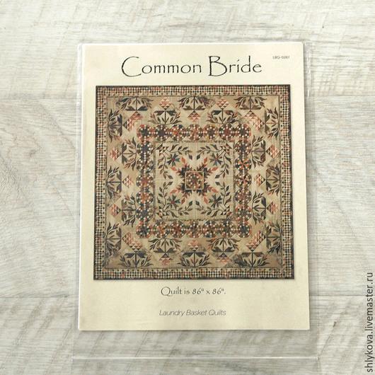 """Шитье ручной работы. Ярмарка Мастеров - ручная работа. Купить паттерн """"Common Bride"""". Handmade. Чёрно-белый, выкройка квилта"""