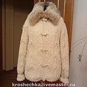 Одежда handmade. Livemaster - original item Woolen knitted jacket