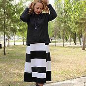 "Одежда handmade. Livemaster - original item Knitted skirt ""Squares"". Handmade."