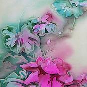 Картины и панно ручной работы. Ярмарка Мастеров - ручная работа Батик картина. Лотосы. Handmade.